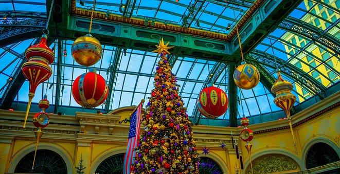 Bellagio, Las Vegas, Christmas Tree, Decoration, Famous