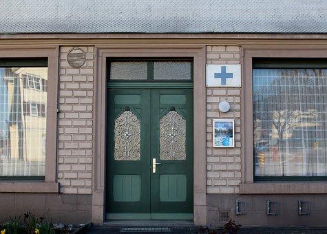 Building, Facade, Wood Shingles, Door, Input, Beautiful