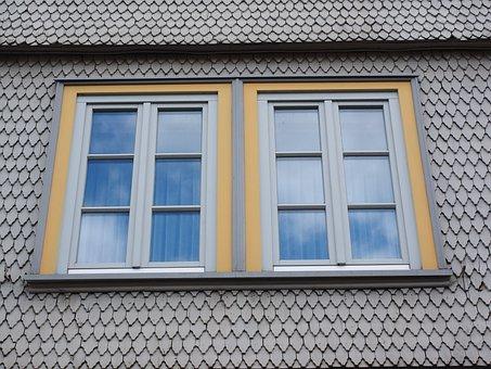 Window, Shingle, Wood Shingles, Facade Cladding, House