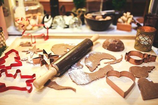 Making, Baking, Cookies, Cookie, Gingerbread, Christmas
