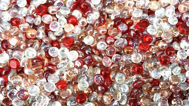 Marvels, Balls, Red, Crystal, Glass, Bright
