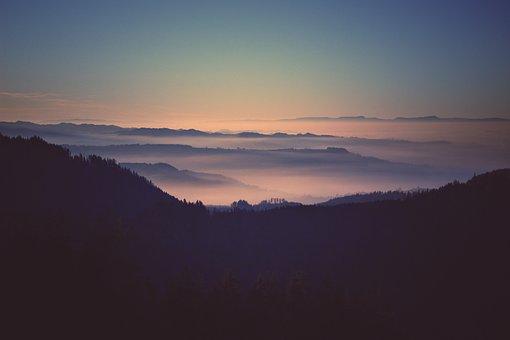 Landscape, Hazy, Switzerland, Scenery, The Alps, Alpine