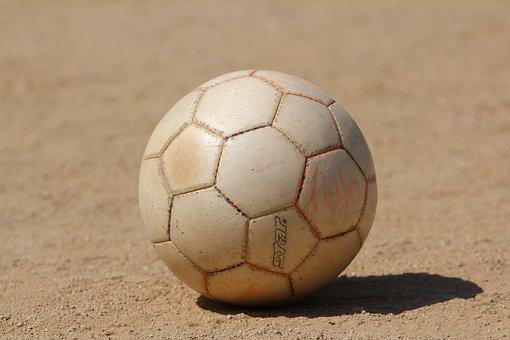 Ball, Football, Playground, Exercise, Sport, Hobby