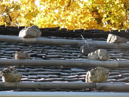 Roof, Wooden Roof, Wood, Stones, Alm, Alpine, Home