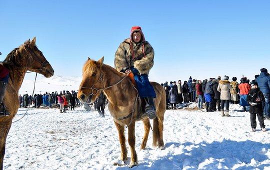 Horseman, Mongolian, Horse, Asia, Nature, Riding
