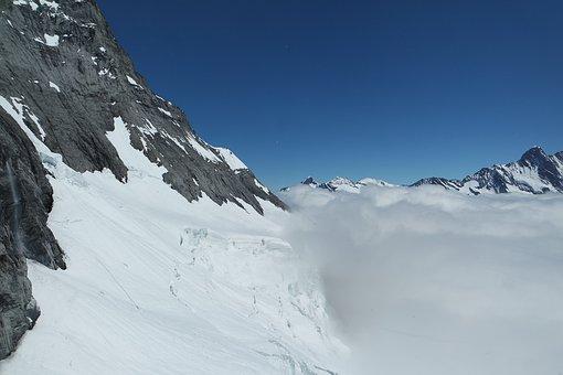 Sky, Glacier, Alps, Interlaken, Valley, Roof, Mountain