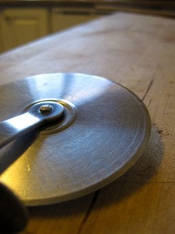 Pizza Cutter, Cutting, Slicing, Pizza, Kitchen, Cooking