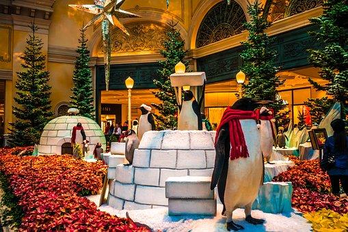 Bellagio Hotel, Christmas, Las Vegas