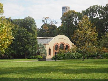 Conservatory, Fitzroy Gardens, Garden, Green, Melbourne