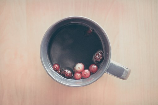 Tea, Berries, Fruits, Cup, Mug, Morning, Breakfast