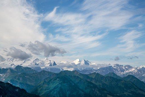 Mountains, View, Alpine, Nature, Switzerland