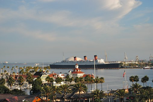 Queen Mary 2, Long Beach, California, Ocean Liner
