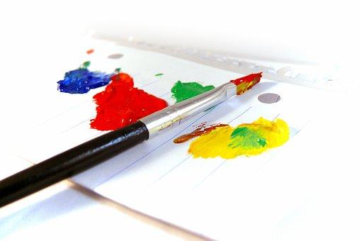 Paintings, Paint, Brush, Paper, Painting, Design