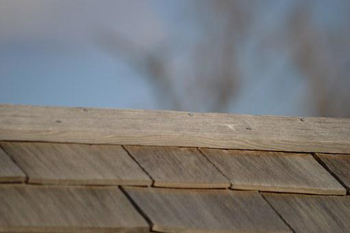 Roof, Shingles, Wood, Exterior, Rooftop, Construction