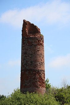 Chimney, Fireplace, Ruin, Brickyard, East Frisia