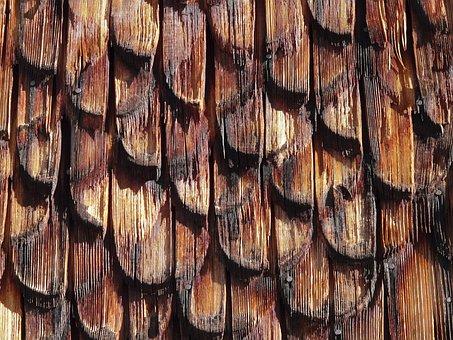 Shingle, Wood, Roofing, Facade Cladding, Wood Shingle