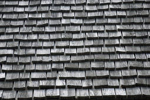 Wood, Shingles, Roof, Background, Backdrop, House
