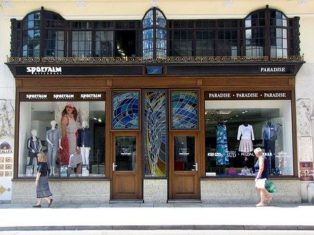 Shophouse, Window, Facade, Nouveau Facade, Symmetry