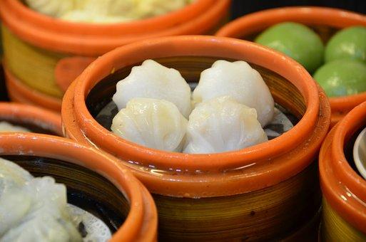 Gourmet, Steamed Jiaozi, Shrimp Dumplings, Morning Tea