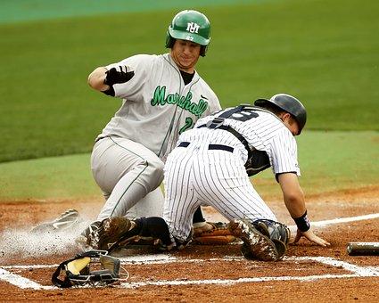 Baseball, Baseball Player, Catcher, Home Plate, Slide