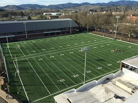 Football, Field, Practice, Sport, Grass, American
