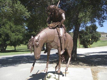 Statue, Horse, Hero, Monument, Historic, Famous