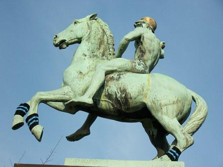 Statue, Horseman, Sculpture, Monument, Landmark