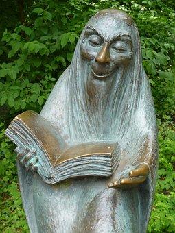 Sculpture, Read, Storytellers