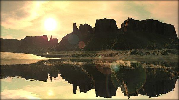 Evening, Morning, Sun, Sunset, Sunrise, Abendstimmung