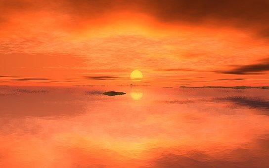 Sun, Sunset, Sunrise, Evening, Morning, Abendstimmung