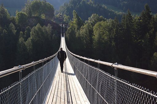 Switzerland, Bridge, Suspension Bridge, Rope Bridge