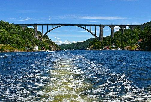 Svinesund, Bridge, Iddefjorden, Ringdal Fjord