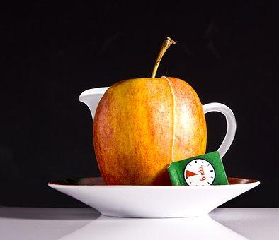 Tee, Apple, Tea Bags, Have Breakfast, Healthy, Stand Up