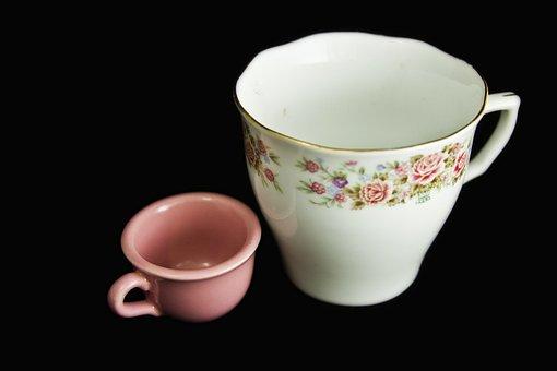 Tea Cup, Cup, Roses, Miniature, China, Porcelain, Pink
