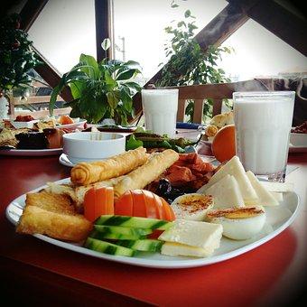 Breakfast, Food, Morning, Tea Tomato, Cheese, Milk