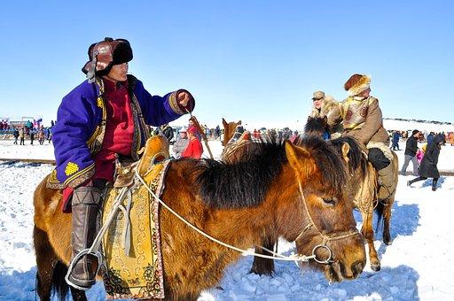 Horseman, Mongolia, Horseback, Traditional, Outdoor