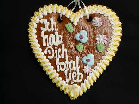 Gingerbread Heart, Gingerbread, Year Market, Wasen