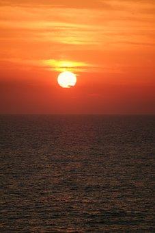 Sunset, Sea, Abendstimmung, Romance, Afterglow