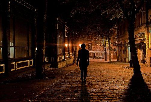 Sleep, Woman Go, Alone, Fear, Uncertain, Uncertainty