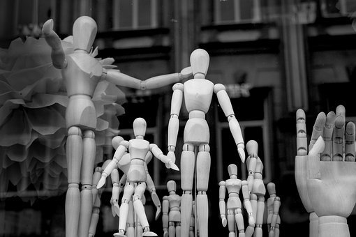 Family, Artist's Mannequin, Figure, Drawing, Society