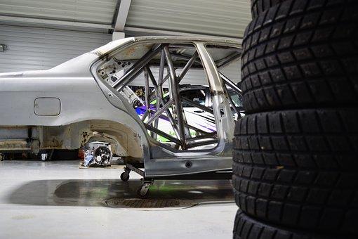Sports Car, Garage, Racing, Race Car, Automobile, Auto