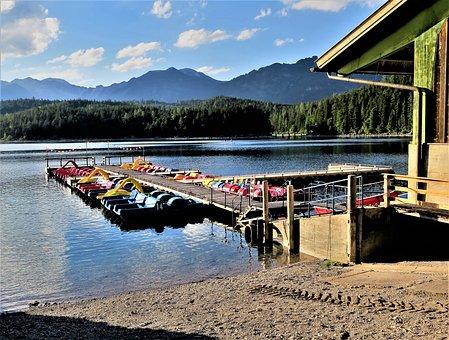 Boat Rental, Pedal Boat, Web, Lake, Eibsee, Leisure