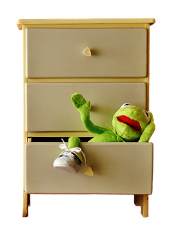 Cabinet, Chest Of Drawers, Kermit, Drawer, Funny