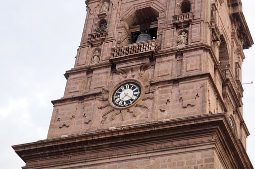 Church, Tower, Clock, Cathedral, Old Building