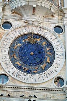 Venice, St Mark's Square, Clock, Zodiac Sign
