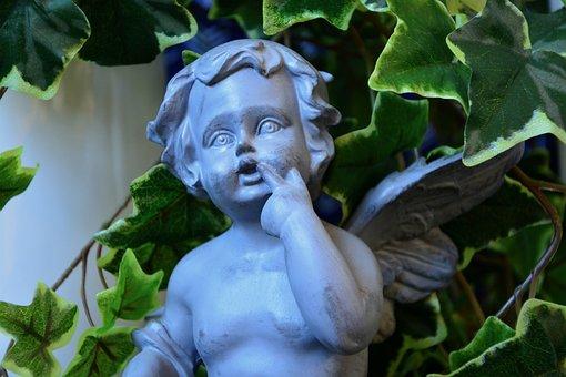 Statue, Angel Resin, Decorative, Décoration Jardin