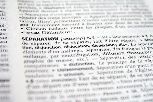 Separation, Break, Disunity, Dictionary, Definition