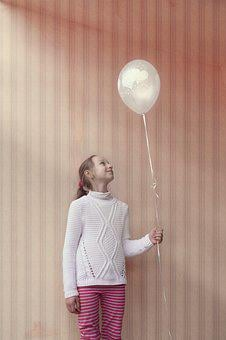 Girl, Balloon, Happy, Pink, Young, Party, Fun, Child
