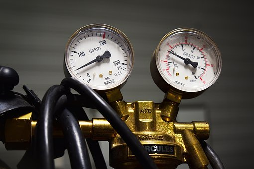 Gas Reductor, Gas Flow, Bar, Pressure, Measuring, Power