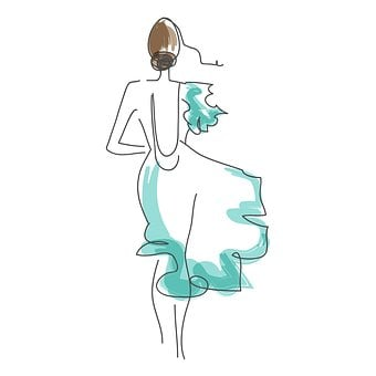 Sketch, Fashion Sketch, Handmade, From The Hand, Girl